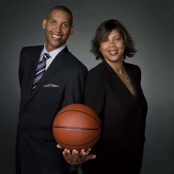 Reggie Miller Family - Cheryl Miller with her brother Reggie Miller