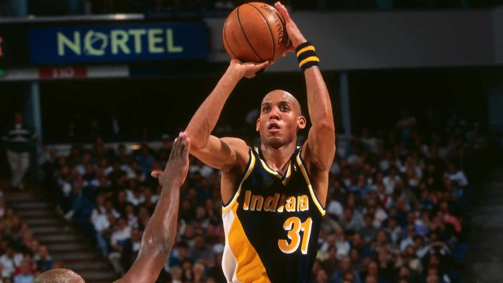 Reggie Miller playing Basketball